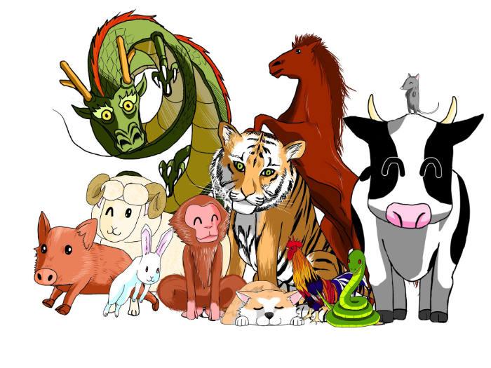 Los animales del Horóscopo Chino