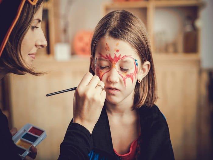 Cuidado con el maquillaje para Halloween